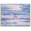 Artist Lane 'Pink Stripe' by Gary Butcher Framed Art Print on Wrapped Canvas