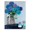 Artist Lane 'Daile's Hydrangeas' by Anna Blatman Framed Art Print on Wrapped Canvas
