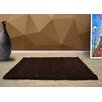 UK Furnishing UK Ltd Opus Shag and Flokati Brown Area Rug