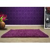 UK Furnishing UK Ltd Opus Shag and Flokati Purple Area Rug