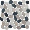 Pebble Tile Sliced Pebble Random Sized Natural Stone Pebble Tile in Multi Color