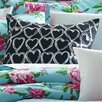 Betsey Johnson Boudior Embroidered Decorative Cotton Throw Pillow