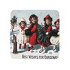 Golden Hill Studio Best Wishes Christmas Coaster (Set of 8)