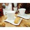 D'Lusso Designs 4 Piece Biscotti Saucer Espresso Set