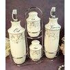 D'Lusso Designs Damask 4 Piece Oil, Vinegar Salt and Pepper Set