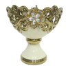 D'Lusso Designs Gold Bling Footed Bowl
