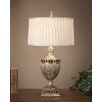 "John Richard Mirror 35"" H Table Lamp with Drum Shade"
