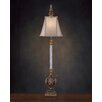 """John Richard Glass 51"""" H Table Lamp with Bell Shade"""