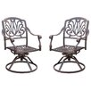 Darlee Elisabeth Swivel Dining Arm Chair with Cushion (Set of 2)