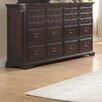Homelegance Cranfills 20 Drawer Dresser with Mirror
