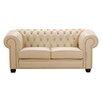 Max Winzer 2-Sitzer Chesterfield Sofa Chandler aus Leder