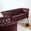 Max Winzer 2-Sitzer Chesterfield Sofa Norfolk aus Leder