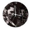 """Vandor LLC 13.5"""" Elvis Presley Cordless Wood Wall Clock"""