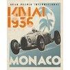 Wheatpaste Art Collective 'Monaco Race Car' by Paste Face Vintage Advertisement on Canvas