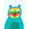 Wheatpaste Art Collective Rainbow Bear by Sarah Walsh Canvas Art
