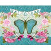 Wheatpaste Art Collective 'Bloom Butterfly' by Bari J. Framed Painting Print on Canvas