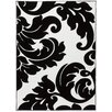 Well Woven Melody Vines Damask Black / White Area Rug