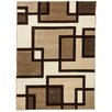 Well Woven Ruby Imagination Squares Cream Area Rug