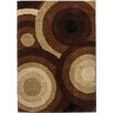 Well Woven Avenue Positive Circles Brown Area Rug
