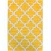 Well Woven Mirage Lattice Yellow Area Rug