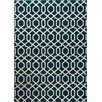 Well Woven Sydney Geo Helix Navy Blue/Brown Area Rug