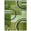 Well Woven Ruby Galaxy Waves Green Area Rug