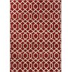 Well Woven Sydney Geo Helix Red Area Rug