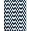 Well Woven Sydney Eli Chevron Dark Blue/White Area Rug