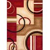 Well Woven Barcla Red Arcs & Shapes Area Rug
