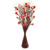 Zhambala Rose in Brown Wave Vase