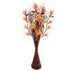 Zhambala Yellow Orange Bodhi in Brown Wave Vase