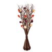 Zhambala Autumn Mix Rose in Brown and Cream Wave Vase