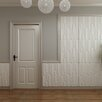 "threeDwall 31.4' x 24.6"" Paintable Brick 3D Embossed 3 Piece Panel Wallpaper (Set of 3)"