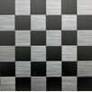 """Instant Mosaic 2"""" x 2"""" Metal Peel & Stick Mosaic Tile in Silver"""
