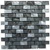 Instant Mosaic Upscale Designs Porcelain, Natural Stone, Metal, Glass, Ceramic Mosaic Tile in Shades of Metallic Gray