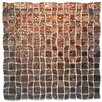 "Instant Mosaic 12"" x 12"" Glass Peel and Stick Mosaic Tile in Brown"