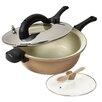 Anna Boiardi 4 Piece 5.5-Qt Ceramic Non-Stick Aluminum Fast-Cooker Set