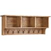 Alpen Home Millais Petite Wall Shelf with Coat Rack