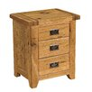 Alpen Home Agathla 3 Drawer Bedside Table