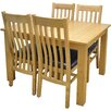Hazelwood Home Extendable Dining Table and 4 Chairs