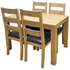 Hazelwood Home Dining Table and 4 Chairs