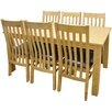 Hazelwood Home Extendable Dining Table and 6 Chairs