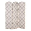 Alpen Home Antonito 150cm x 120cm Studded Screen 3 Panel Room Divider