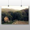 Alpen Home Poster Hut in Forest Fotodruck