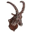 Alpen Home Capra Goat Head Metal Wall Décor