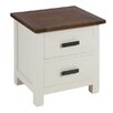 Alpen Home Lucca 2 Drawer Bedside Table