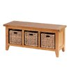 Alpen Home Millais Petite Wood Storage Entryway Bench