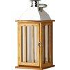 Alpen Home Tozi Chrome and Wood Lantern