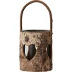 Alpen Home Upper Bear Creek Wood Birch Log Heart Lantern