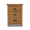 Prestington Cherbourg 3 Drawer Bedside Table